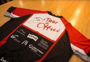 Tour de Office cycling jersey